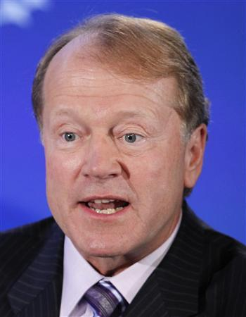 John Chambers, Chairman and CEO of Cisco, participates in a group discussion on ''Business by Design: Business with Integrity'' during the second day of the Clinton Global Initiative 2012 (CGI) in New York on in this September 24, 2012, file photo. REUTERS/Lucas Jackson/Files