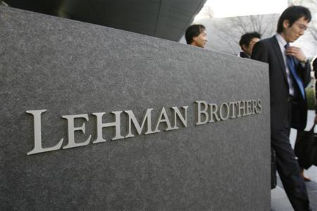 A logo of U.S. investment bank Lehman Brothers is seen outside its Asia headquarters in April 1, 2008. REUTERS/Yuriko Nakao
