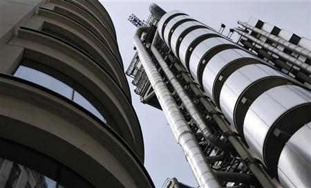 The headquarters of Lloyd's of London is seen in the City of London May 13, 2011. REUTERS/Chris Helgren