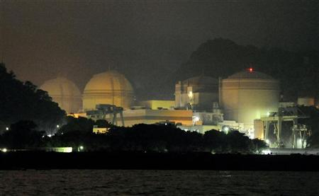 Kansai Electric Power Co's Ohi nuclear power plant No.3 unit (2nd L) is seen in Ohi, Fukui prefecture, in this photo taken by Kyodo July 1, 2012. REUTERS/Kyodo