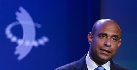 Haitian Prime Minister Laurent Lamothe speaks during a commitment workshop titled ''Haiti: Lessons for the Future'' on the second day of the Clinton Global Initiative 2012 (CGI) in New York September 24, 2012. REUTERS/Lucas Jackson
