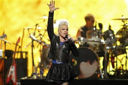 Singer Pink performs during second day of the 2012 iHeartRadio Music Festival at the MGM Grand Garden Arena in Las Vegas, Nevada September 22, 2012. REUTERS/Steve Marcus