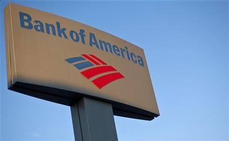 A Bank of America sign is seen outside of a branch in Greenville, South Carolina January 18, 2012. REUTERS/Chris Keane