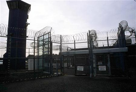 An interior courtyard at Pelican Bay prison in Crescent City, California, April 27, 2005.