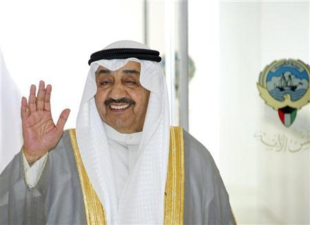 Kuwait's Speaker of the Parliament Jassim al-Kharafi waves as he arrives at parliament in Kuwait City May 10, 2011. REUTERS/Stephanie McGehee