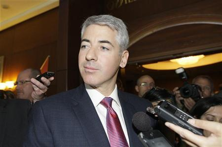 William Ackman, Chief Executive Officer of Pershing Square Capital Management LP talks to reporters before entering the AGM of Canadian Pacific Railway Ltd. in Calgary May 17, 2012. REUTERS/Jack Cusano