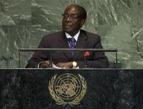 President of Zimbabwe Robert Mugabe addresses the 67th session of the United Nations General Assembly at U.N. headquarters in New York, September 26, 2012. REUTERS/Ray Stubblebine