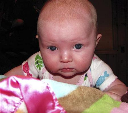 Lisa Irwin, a 10-month-old girl feared kidnapped from her home in Kansas City, Missouri, is seen in this undated handout picture released to Reuters October 4, 2011 by the Kansas City police. REUTERS/Kansas City police/Handout