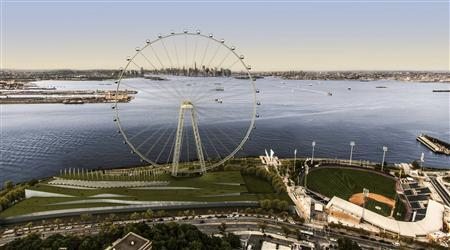 A giant ferris wheel planned for New York's Staten Island is shown in this artist rendering released to Reuters on September 27, 2012. REUTERS/New York Wheel LLC/Handout