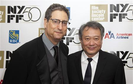 Former head of 20th Century Fox Tom Rothman (L) and Director Lee Ang attend the opening night gala presentation of film ''Life Of Pi'' at the 50th New York Film Festival at Alice Tully Hall in New York September 28, 2012. REUTERS/Andrew Kelly