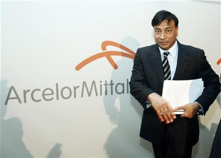 Chairman and Chief Executive Officer Lakshmi Mittal leaves the room after presenting Year 2009 results of Arcelor Mittal steel group at a news conference in Luxembourg February 10, 2010. REUTERS/Thierry Roge