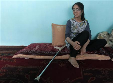 Muzhgan Masoomi, 22, speaks at her house in Kabul August 28, 2012. REUTERS/Omar Sobhani