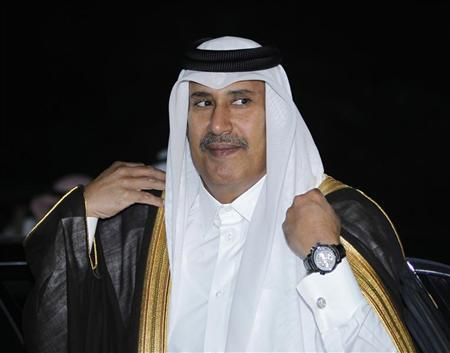Qatar's Prime Minister Sheikh Hamad bin Jassim bin Jaber al-Thani arrives for a Gulf Cooperation Council (GCC) meeting in Riyadh April 3, 2011. REUTERS/Fahad Shadeed