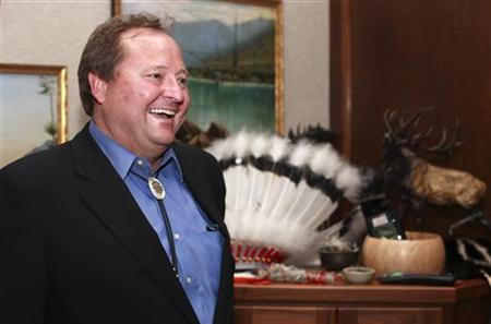 Montana Governor Brian Schweitzer is seen at the Montana State Capitol in Helena, Montana June 2, 2008. REUTERS/Adam Tanner