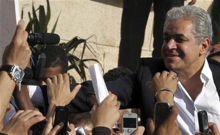 Egypt's former presidential candidate Hamdeen Sabahy greets supporters during a commemoration of the second anniversary of the death of Khaled Said in the port city of Alexandria June 6, 2012. REUTERS/Mohamed Abd El Ghany