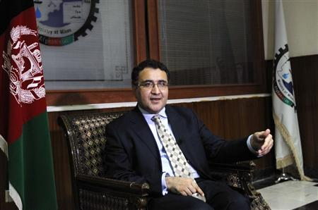 Afghan Mining Minister Wahidullah Shahrani speaks during an interview in Kabul September 29, 2012. Exxon Mobil Corp, the world's biggest non-state oil company, has not yet accepted an offer to look over a new Afghan oil concession in the country's north, possibly indicating a fading appetite to invest in the conflict-wracked country. REUTERS/Mohammad Ismail