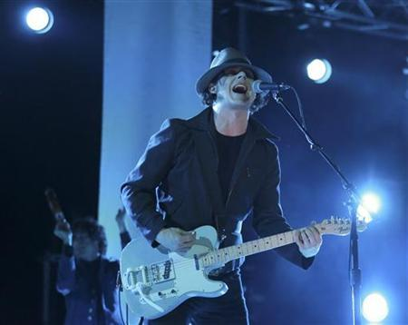 Jack White performs at the Hackney Weekend festival at Hackney Marshes in east London, June 23, 2012. REUTERS/Olivia Harris