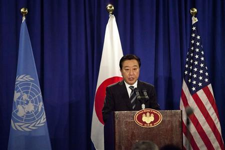 Japan's Prime Minister Yoshihiko Noda speaks at a news conference in New York September 26, 2012. REUTERS/Andrew Burton