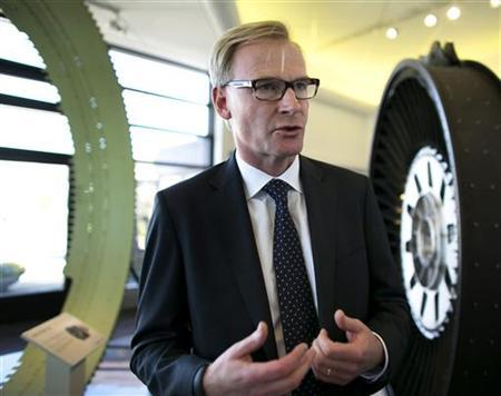 Volvo AB CEO Olof Persson speaks during a press meeting at Volvo Aero in Trollhattan, Sweden, July 5, 2012. REUTERS/Thomas Johansson/Scanpix Sweden