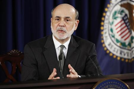 U.S. Federal Reserve Chairman Ben Bernanke addresses U.S. monetary policy with reporters at the Federal Reserve in Washington September 13, 2012. REUTERS/Jonathan Ernst