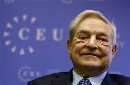 Soros Fund Management Chairman George Soros smiles before his speech at the Central European University in Budapest, November 3, 2011. REUTERS/Bernadett Szabo