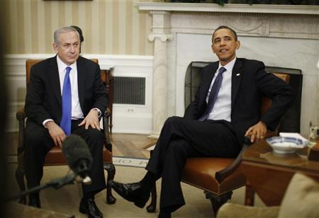 U.S. President Barack Obama meets with Israel's Prime Minister Benjamin Netanyahu in the Oval Office of the White House in Washington, March 5, 2012. REUTERS-Jason Reed