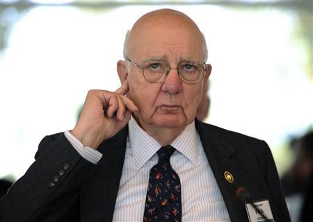 Paul Volcker, former chairman U.S. Federal Reserve takes part in the Spruce Meadows Changing Fortunes Round Table on business in Calgary, Alberta, September 9, 2011. REUTERS/Todd Korol