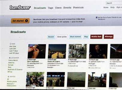 A webpage of Swedish IT company Bambuser is pictured in Riga September 26, 2012. REUTERS/Ints Kalnins