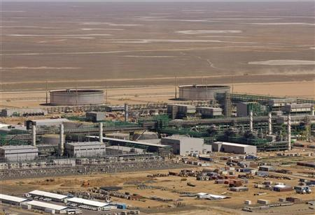 A view of the Bolashak processing plant on a steppe on a coast near Kashagan offshore oil field in the Caspian sea, western Kazakhstan August 11, 2009. REUTERS/Shamil Zhumatov