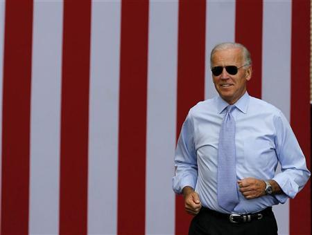 U.S. Vice President Joseph Biden attends a campaign event at the Strawbery Banke Museum in Portsmouth, New Hampshire, September 7, 2012. REUTERS/Larry Downing