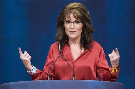 Former Alaska Governor Sarah Palin addresses the American Conservative Union's annual Conservative Political Action Conference (CPAC) in Washington, February 11, 2012. REUTERS/Jonathan Ernst