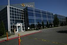 The entrance to the headquarters of bankrupt Solyndra LLC is shown in Fremont, California September 20, 2011. REUTERS/Robert Galbraith