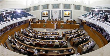 A general view of the Kuwaiti Parliament as Emir Sheikh Sabah al-Ahmad al-Sabah opens the forth session of the 13rd legislative term of the parliament on October 25, 2011, which reconvened after the summer break. REUTERS/Stephanie McGehee