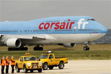 A passenger jet of Corsair company prepares to take off at Orly Airport near Paris on August 20, 2008. REUTERS/Charles Platiau