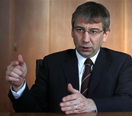 Czech Republic's Labour and Social Affairs Minister Jaromir Drabek speaks during an interview with Reuters at his office in Prague February 24, 2011. REUTERS/David W Cerny