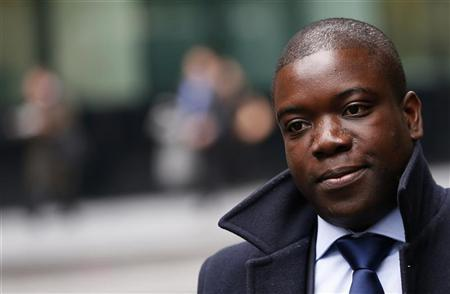 Former UBS trader Kweku Adoboli arrives at Southwark Crown Court in London September 27, 2012. Adoboli is on trial accused of fraud and false accounting that cost the Swiss bank $2.3 billion. He has pleaded not guilty. REUTERS/Stefan Wermuth
