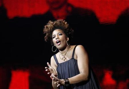 Macy Gray performs during multimedia performance directed by Robert Wilson titled ''Solidarity. Freedom is the Name of Your Angel!'' at Gdansk Shipyard August 31, 2010. REUTERS/Peter Andrews