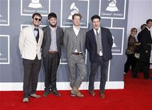 British folk rock band Mumford & Sons arrives at the 54th annual Grammy Awards in Los Angeles, California, February 12, 2012. REUTERS/Danny Moloshok