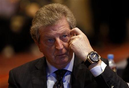 English national team coach Roy Hodgson reacts as he attends 10th UEFA Conference for European National Team Coaches held at hotel in Warsaw September 24, 2012 REUTERS/Kacper Pempel