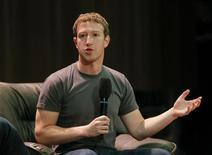 Mark Zuckerberg anunciou a marca de 1 bilhão de usuários nesta quinta-feira . 02/10/2012. REUTERS/Maxim Shemetov
