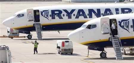 Ryanair planes are seen parked at Girona airport, September 20, 2012. RREUTERS/Albert Gea