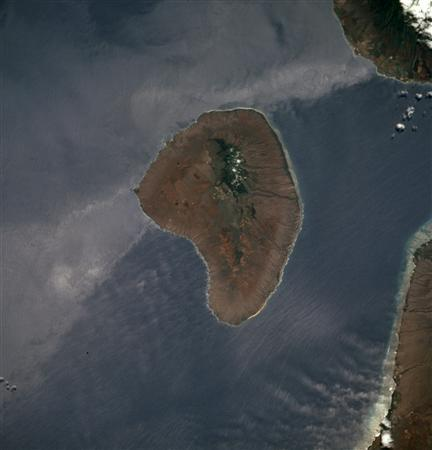 The Hawaiian island of Lanai is pictured in this July 1994 NASA satellite handout image. REUTERS/NASA/Handout