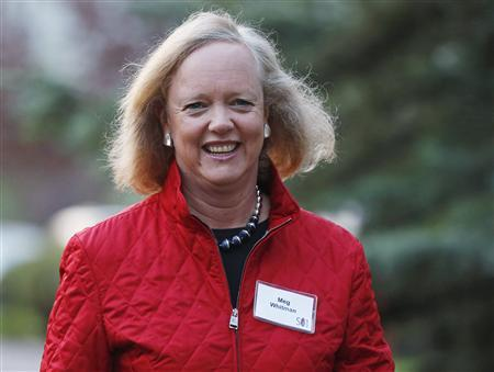 Hewlett Packard CEO and President Meg Whitman attends the Allen & Co Media Conference in Sun Valley, Idaho in this July 12, 2012, file photo. REUTERS/Jim Urquhart/Files