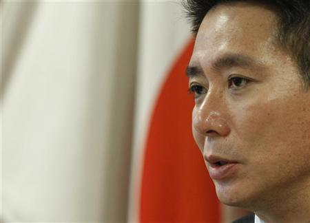 Japan's new Economics Minister Seiji Maehara speaks during a group interview in Tokyo October 4, 2012. REUTERS/Issei Kato