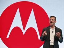 Motorola Mobility CEO Dennis Woodside speaks at a Motorola phone launch event in New York, September 5, 2012. REUTERS/Brendan McDermid