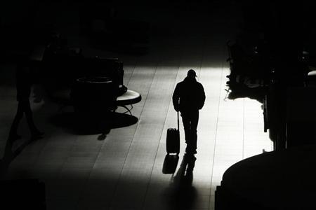 A passenger walks at the Budapest Airport February 2, 2012. REUTERS/Bernadett Szabo