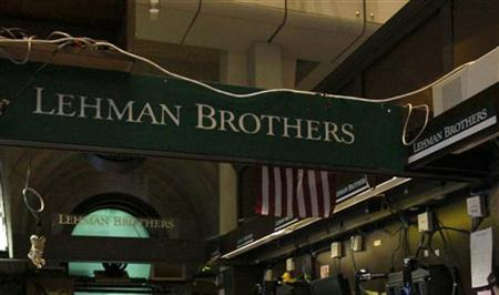 File photo of the Lehman Brothers booth on the trading floor of the New York Stock Exchange, September 16, 2008. REUTERS/Brendan McDermid/Files