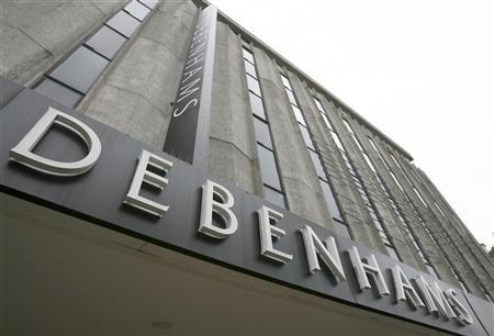 The Debenhams store is seen on Oxford Street, in central London October 19, 2008. REUTERS/Andrew Winning