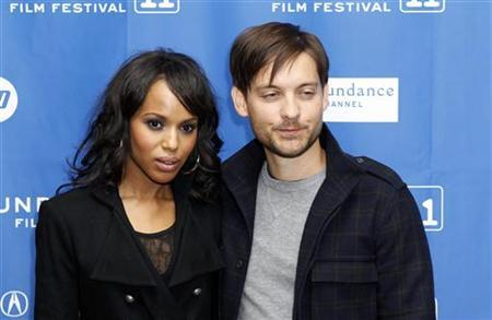 Cast members Tobey Maguire and Kerry Washington arrive for the premiere of ''The Details'' during the Sundance Film Festival in Park City, Utah January 24, 2011. REUTERS/Lucas Jackson