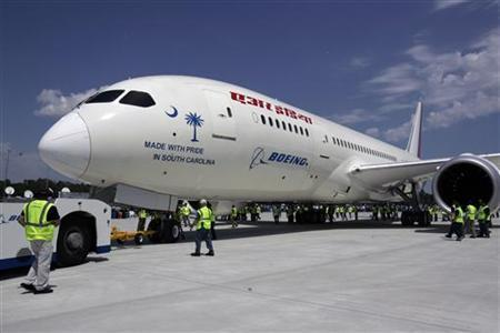 The first 787 Dreamliner passenger jet to be assembled at Boeing's South Carolina facility is rolled out during a ceremony in North Charleston in this file photo taken April 27, 2012. REUTERS/Mary Ann Chastain